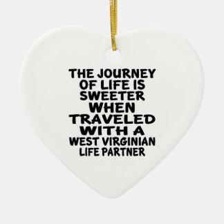 Adorno De Cerámica Viajado con un socio de la vida del Virginian del