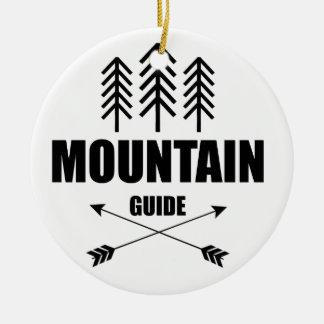 Adorno De Cerámica Viaje y aventura, guía de la montaña