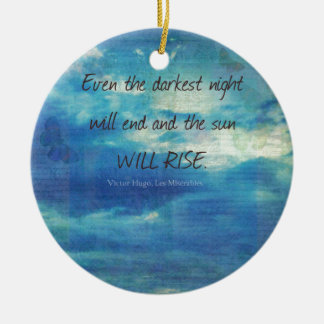Adorno De Cerámica Victor Hugo, cita de Les Miserables inspirada