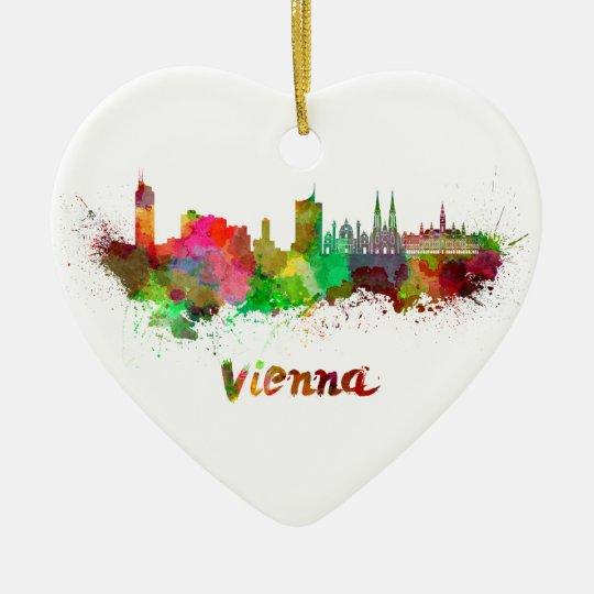 Adorno De Cerámica Vienna skyline in watercolor