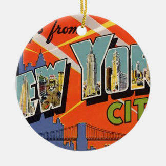 Adorno De Cerámica Vintage New York City