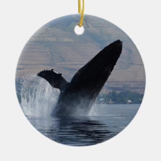Adorno De Cerámica violación de la ballena del humback