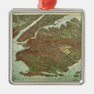 Adorno De Cerámica Vista aérea de Brooklyn, Nueva York (1908)