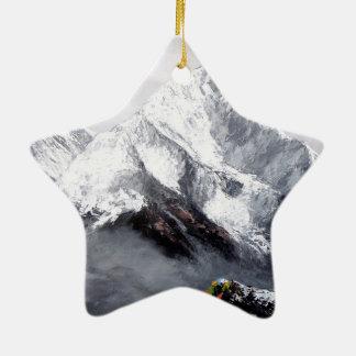 Adorno De Cerámica Vista panorámica de la montaña de Everest
