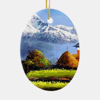 Adorno De Cerámica Vista panorámica de la montaña hermosa de Everest