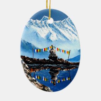 Adorno De Cerámica Vista panorámica de la montaña Nepal de Annapurna