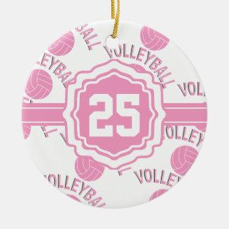 Adorno De Cerámica Voleibol rosado