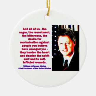 Adorno De Cerámica Y todos nosotros - Bill Clinton