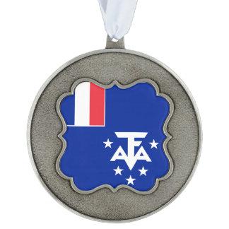 Adorno De Peltre Bandera meridional y antártica francesa de las