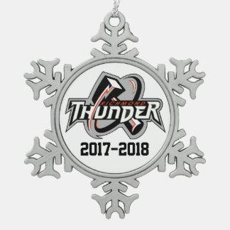 Adorno De Peltre Tipo Copo De Nieve 2017-2018 ornamento del trueno