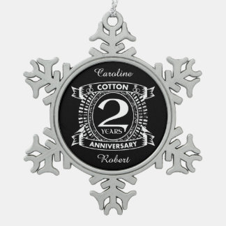Adorno De Peltre Tipo Copo De Nieve 2do escudo apenado del aniversario de boda
