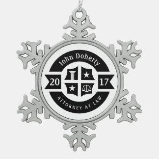 Adorno De Peltre Tipo Copo De Nieve Abogado 2017 del abogado en la ley el | decorativo