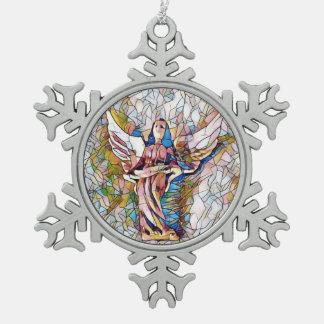 Adorno De Peltre Tipo Copo De Nieve Ángel de guarda bonito del día de fiesta del