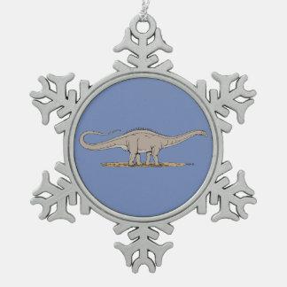 Adorno De Peltre Tipo Copo De Nieve Apatosaurus