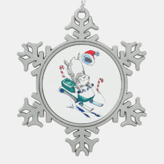 Adorno De Peltre Tipo Copo De Nieve Árbol divertido de Snowmachine del leming del