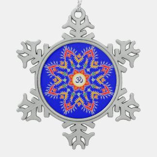 """Adorno De Peltre Tipo Copo De Nieve Atontando, estaño, ornamento de """"Sn'owm'flakes"""""""