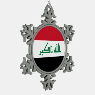 Adorno De Peltre Tipo Copo De Nieve Bandera de Iraq