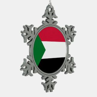 Adorno De Peltre Tipo Copo De Nieve Bandera de Sudán