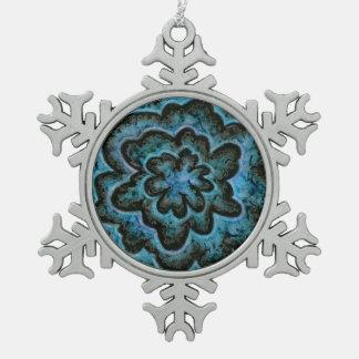 Adorno De Peltre Tipo Copo De Nieve Blue Orchid