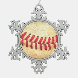 Adorno De Peltre Tipo Copo De Nieve Bola del béisbol del vintage