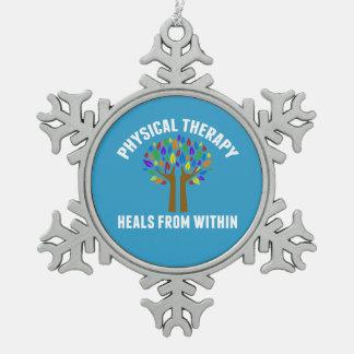 Adorno De Peltre Tipo Copo De Nieve Cita inspirada hermosa de la terapia física