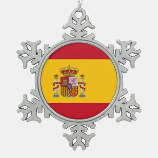 Adorno De Peltre Tipo Copo De Nieve con la bandera de España