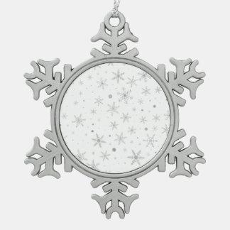 Adorno De Peltre Tipo Copo De Nieve Copo de nieve del centelleo - gris y Blanco de