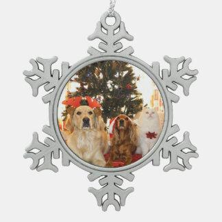 Adorno De Peltre Tipo Copo De Nieve Copo de nieve personalizado Ornamen del navidad de