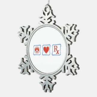Adorno De Peltre Tipo Copo De Nieve Cuadrados del farmacéutico del amor de la paz
