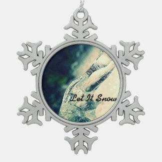 Adorno De Peltre Tipo Copo De Nieve Dejáis le nevar ornamento