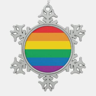 Adorno De Peltre Tipo Copo De Nieve Diseño colorido del arco iris del orgullo el |