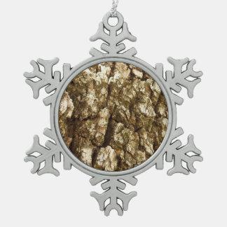 Adorno De Peltre Tipo Copo De Nieve Diseño texturizado extracto natural de la corteza