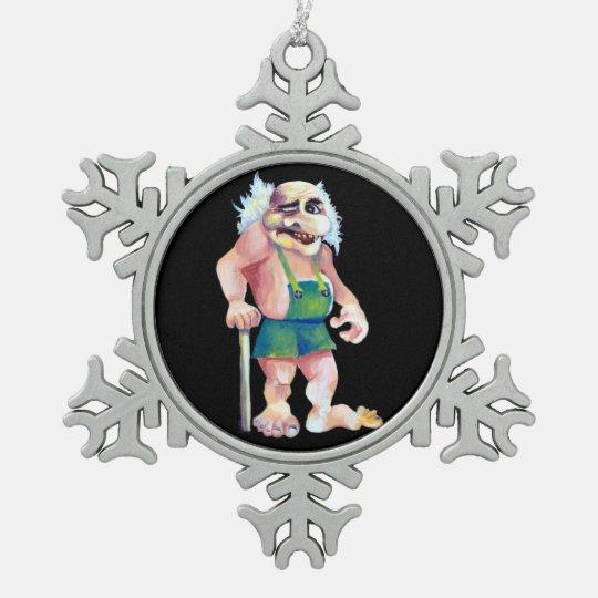 Adorno De Peltre Tipo Copo De Nieve Duende de mirada divertido escandinavo del ogro