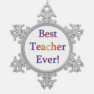 Adorno De Peltre Tipo Copo De Nieve El mejor profesor nunca