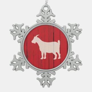 Adorno De Peltre Tipo Copo De Nieve El panel rojo de madera del granero de la cabra