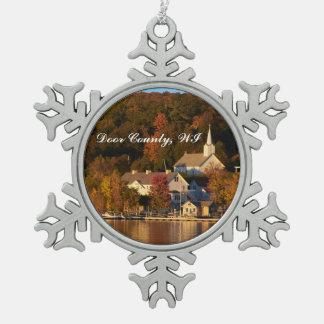 Adorno De Peltre Tipo Copo De Nieve Ephraim, Wisconsin en el ornamento del copo de