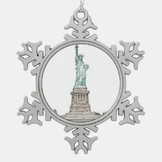 Adorno De Peltre Tipo Copo De Nieve Estatua de encargo del navidad de New York City de