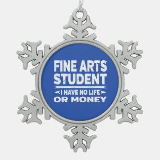 Adorno De Peltre Tipo Copo De Nieve Estudiante de bellas arte ninguna vida o dinero