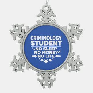 Adorno De Peltre Tipo Copo De Nieve Estudiante de la criminología ninguna vida o