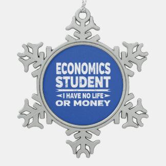 Adorno De Peltre Tipo Copo De Nieve Estudiante de la economía ninguna vida o dinero