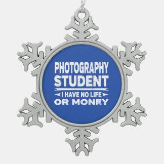 Adorno De Peltre Tipo Copo De Nieve Estudiante de la fotografía ninguna vida o dinero