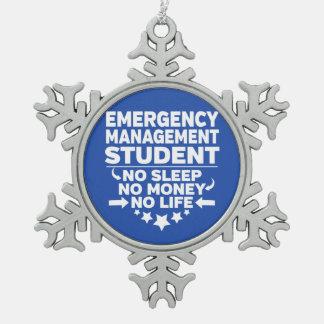 Adorno De Peltre Tipo Copo De Nieve Estudiante de la gestión de emergencia ninguna