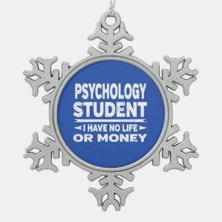 Adorno De Peltre Tipo Copo De Nieve Estudiante de la psicología ninguna vida o dinero