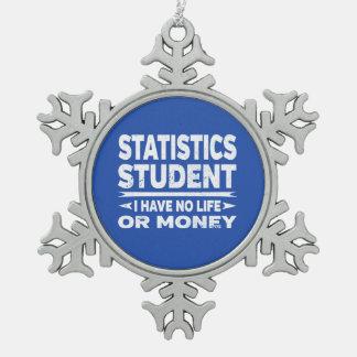 Adorno De Peltre Tipo Copo De Nieve Estudiante de las estadísticas ninguna vida o