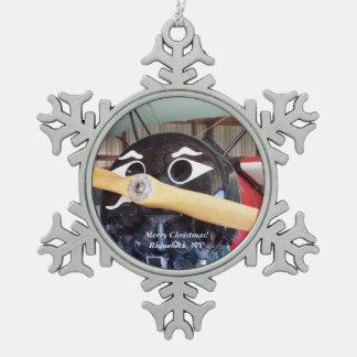 Adorno De Peltre Tipo Copo De Nieve Felices Navidad Rhinebeck, ornamento 1 del copo de