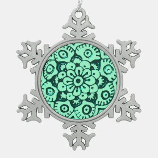 Adorno De Peltre Tipo Copo De Nieve Flor de Lotus (alheña) (trullo)