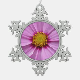 Adorno De Peltre Tipo Copo De Nieve Fotografía bonita del Wildflower del cosmos rosado
