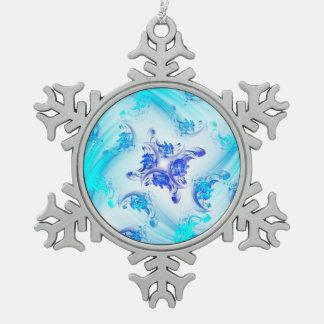 Adorno De Peltre Tipo Copo De Nieve Fractal congelado floral