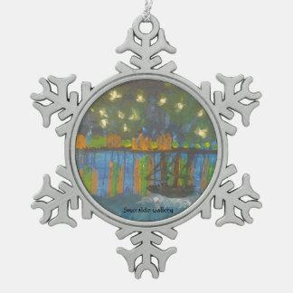 """Adorno De Peltre Tipo Copo De Nieve Galería """" noche estrellada de Smeraldo en el Rhone"""