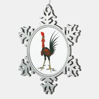 Adorno De Peltre Tipo Copo De Nieve Gallo loco